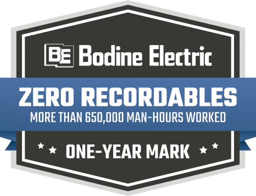 Bodine Electric hits 1-year mark without an OSHA recordable